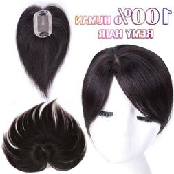100% Human Remy Hair Replacement Topper Hairpiece Top Piece