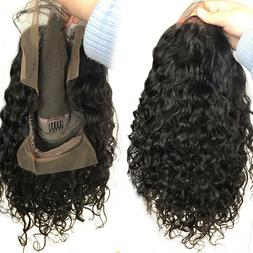 100% Indian Remy Human Hair Full Front Lace Wig Curly Wavy H