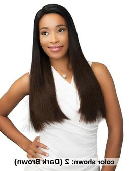 Janet Collection 100% Remy Human Hair Straight Long Wig Lace