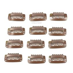 12pcs Wig Snap Metal Hair Clips For Wigs / Hair Extensions 3