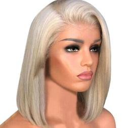 Blonde Lace Front Human Hair Wigs With Baby Short Transparen