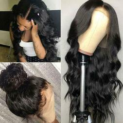 Body Wave Hair 13*4 Lace Front Wig 10A Grade Virgin Remy Hum