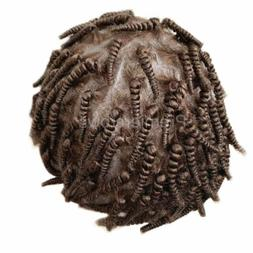 Brown Braid Thin Skin Toupees Men Toupees Replacement Hairpi