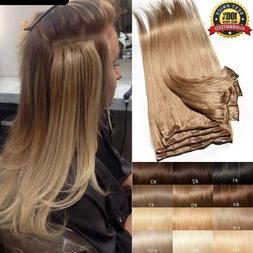 CLEARANCE Clip In 100% Real Remy Human Hair Extensions Full