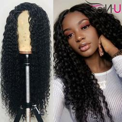 UNice Deep Wave Lace Front Human Hair Wigs Malaysian Curly H