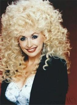 Dolly Parton Mid-Length Afro Curly Synthetic Capless Hair Wi