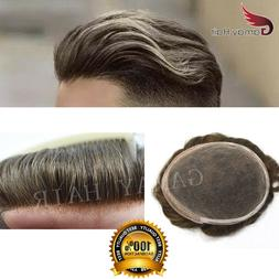 French Lace Wigs Men Toupee Natural Hairline Hairpiece Hair