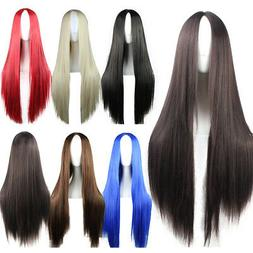 Heat Resistant Synthetic Hair Long Straight Cosplay Wig Anim