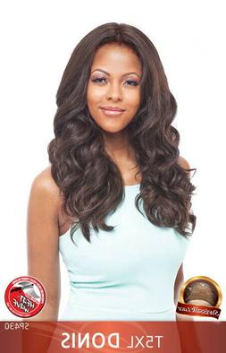 """VANESSA  HUMAN HAIR BLEND 5"""" X 5"""" SWISSILK LACE FRONT WIG T5"""
