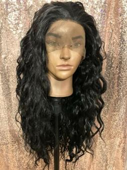 """human hair blend Loose Wave lace front wig """"26"""""""