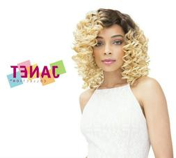 NAOMI - Spiral Curls Human Hair Blend Lace Front Wig - Janet
