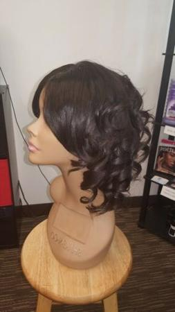 New Hand-made 100% Virgin Human Hair Wig with Lace Closure