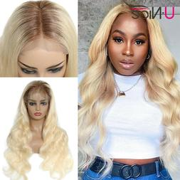 UNice Ombre Blonde Brazilian Body Wave Full Lace Human Hair