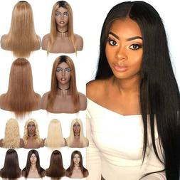 Ombre Blonde Brown Full Wig 100% Real Remy Indian Human Hair