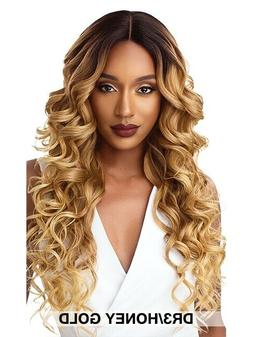 Outre &Play Human Hair Blend L-Parting Swiss Lace Front Wig