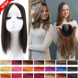 Russian Human Hair Extensions Clip in Topper Toupees Hairpie