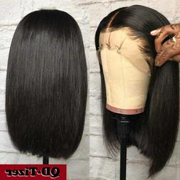 Synthetic Black Hair Lace Front Wigs Short Bob Full Head Wig