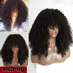 Synthetic No Lace Wigs Heat Resistant Kinky Curly Hair Full