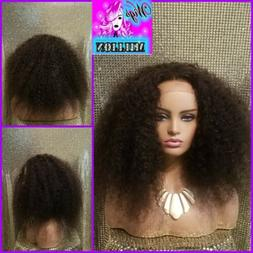 """Tootie"""" Brazilian Afro Kinky Curly Wig, 4x4 Lace Closure Hum"""